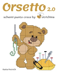 Libro di schemi punto croce riguardanti l'orsetto. Contiene 3 storie da ricamare.