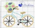 bici con fiori