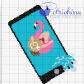 Fenicottero in piscina nello smartphone