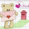 Orso innamorato invia una lettera d'amore