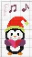 Pinguino che canta canzoni di natale