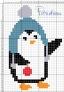 Pinguino con pallina di natale