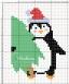 Pinguino con albero di Natale