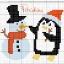 Pupazzo di neve e pinguino