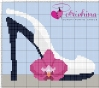 Scarpa Bianca con orchidea