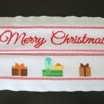 strofinaccio natalizio a punto croce