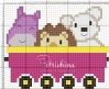 vagone del treno con animali
